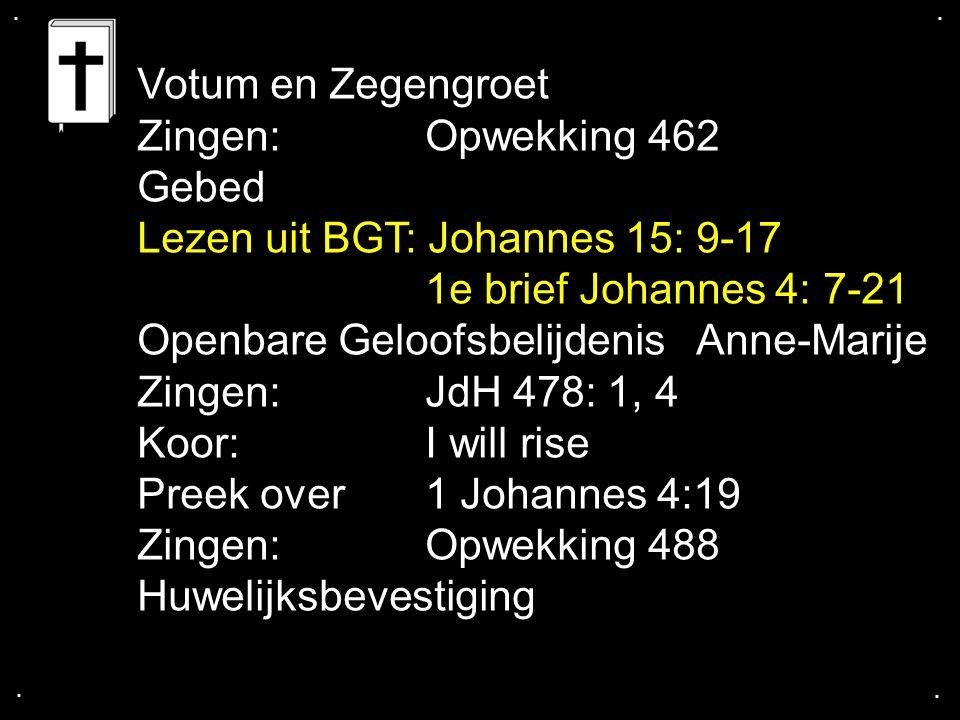 ....Johannes 15: 9 - 17 Houd van elkaar 9-10 Ik houd van jullie, net zoals de Vader van mij houdt.
