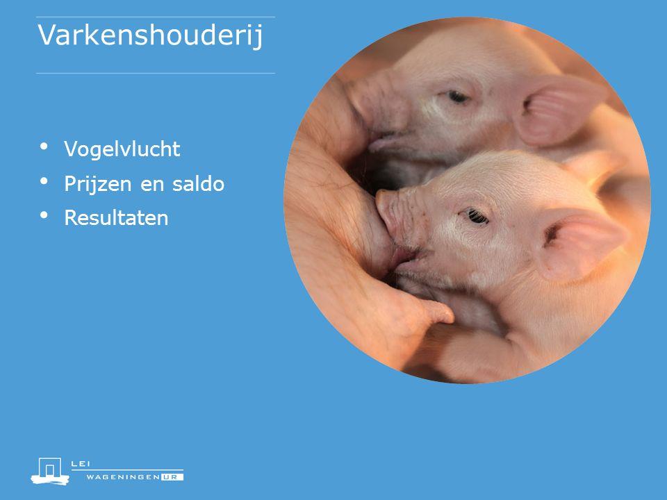 Varkenshouderij Vogelvlucht Prijzen en saldo Resultaten