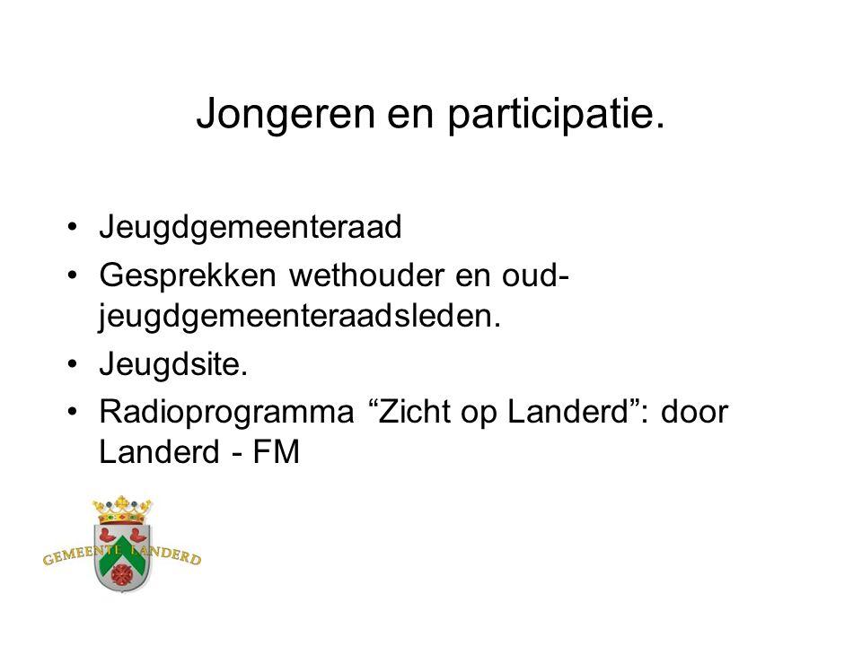 """Jongeren en participatie. Jeugdgemeenteraad Gesprekken wethouder en oud- jeugdgemeenteraadsleden. Jeugdsite. Radioprogramma """"Zicht op Landerd"""": door L"""