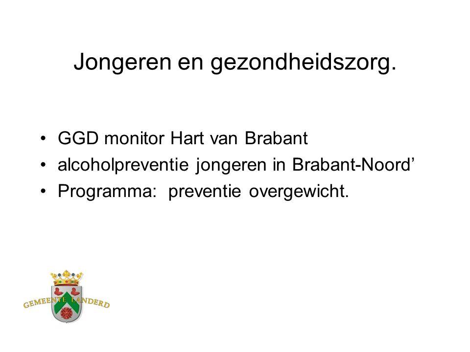 Jongeren en gezondheidszorg. GGD monitor Hart van Brabant alcoholpreventie jongeren in Brabant-Noord' Programma: preventie overgewicht.