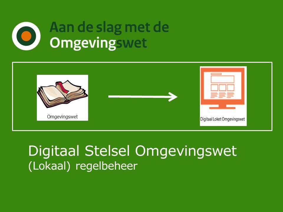 Digitaal Stelsel Omgevingswet (Lokaal) regelbeheer Omgevingswet