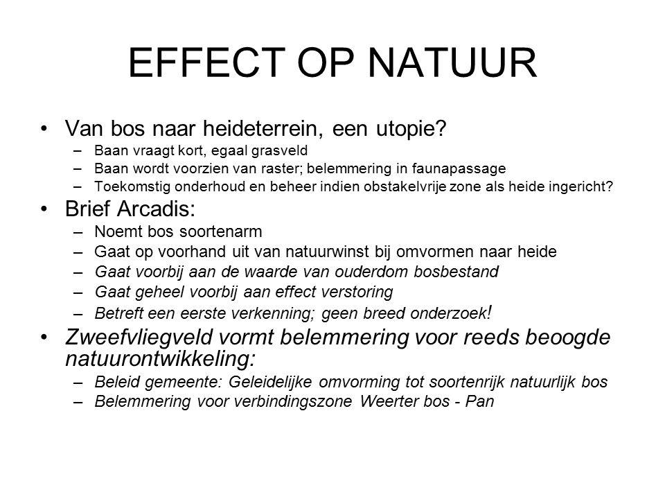 EFFECT OP NATUUR Van bos naar heideterrein, een utopie.