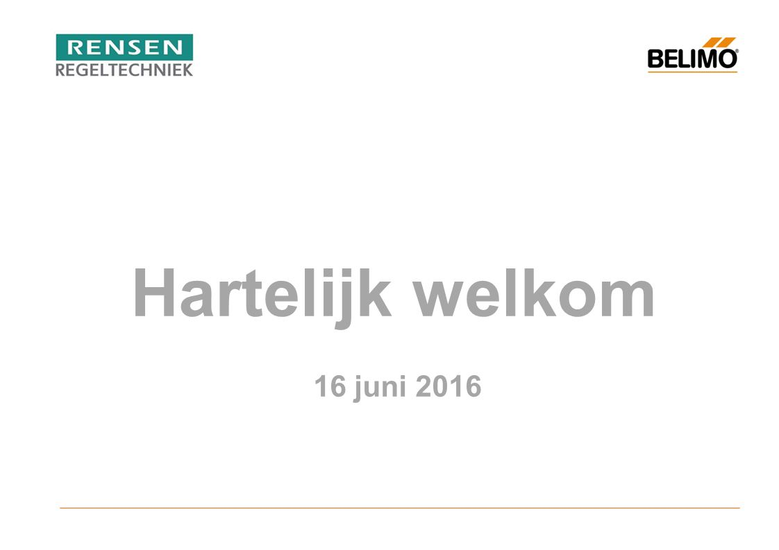 Hartelijk welkom 16 juni 2016