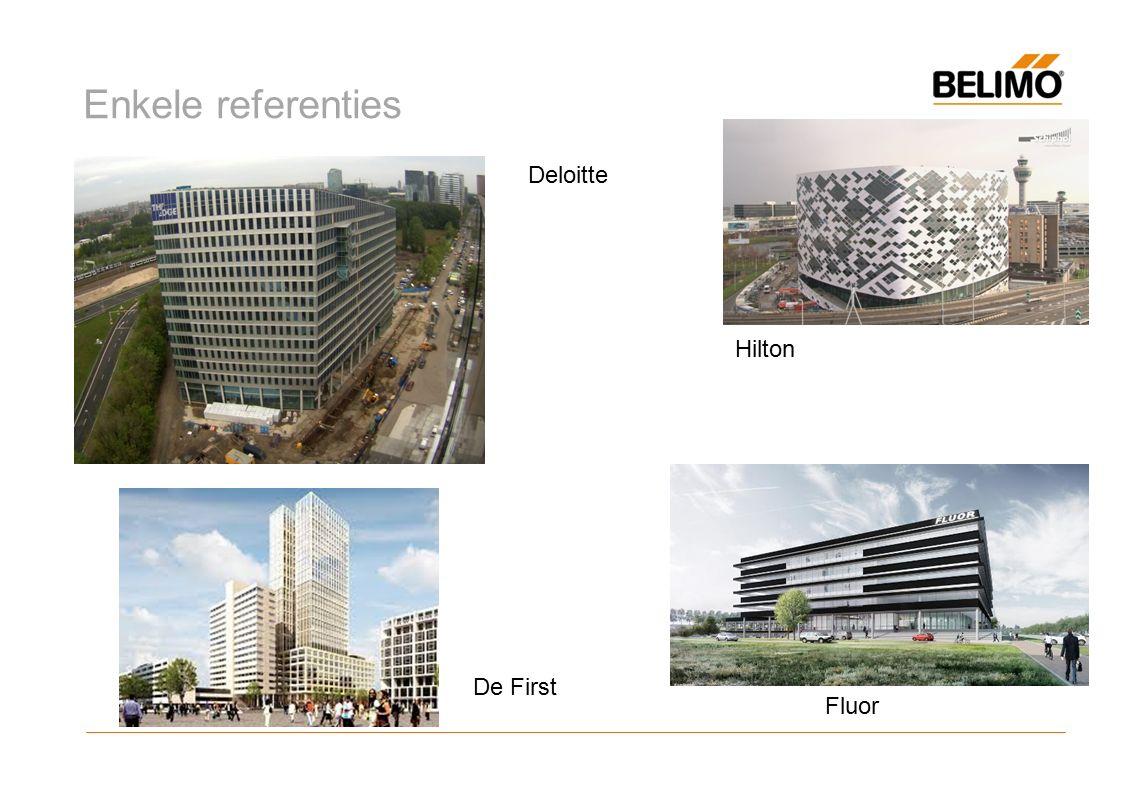 Enkele referenties Deloitte Hilton Fluor De First