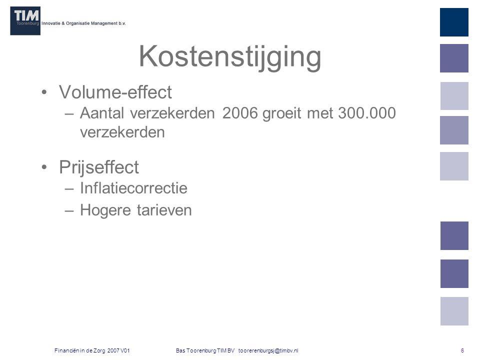 7 Bas Toorenburg TIM BV toorerenburgsj@timbv.nlFinanciën in de Zorg 2007 V01 Bruto binnenlands product Het bruto binnenlands product (BBP) is het totale inkomen dat door productie in Nederland gevormd is.