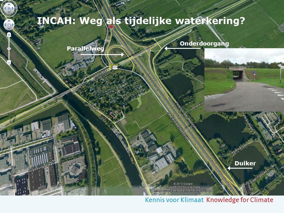 Duiker Onderdoorgang Parallelweg INCAH: Weg als tijdelijke waterkering