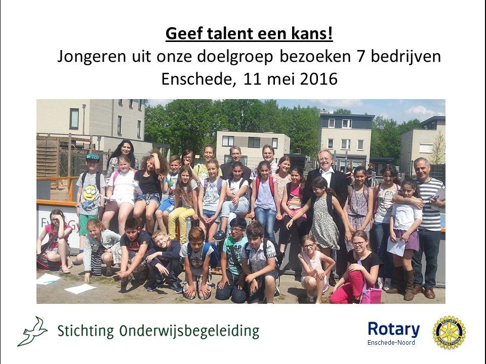 Enschede-Noord Geef talent een kans.