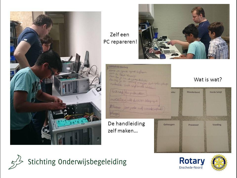 Zelf een PC repareren! Wat is wat De handleiding zelf maken… Enschede-Noord