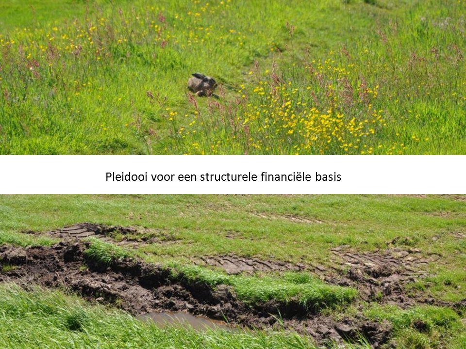 Pleidooi voor een structurele financiële basis