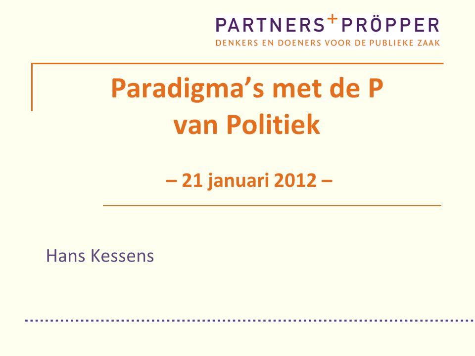 Paradigma's met de P van Politiek – 21 januari 2012 – Hans Kessens