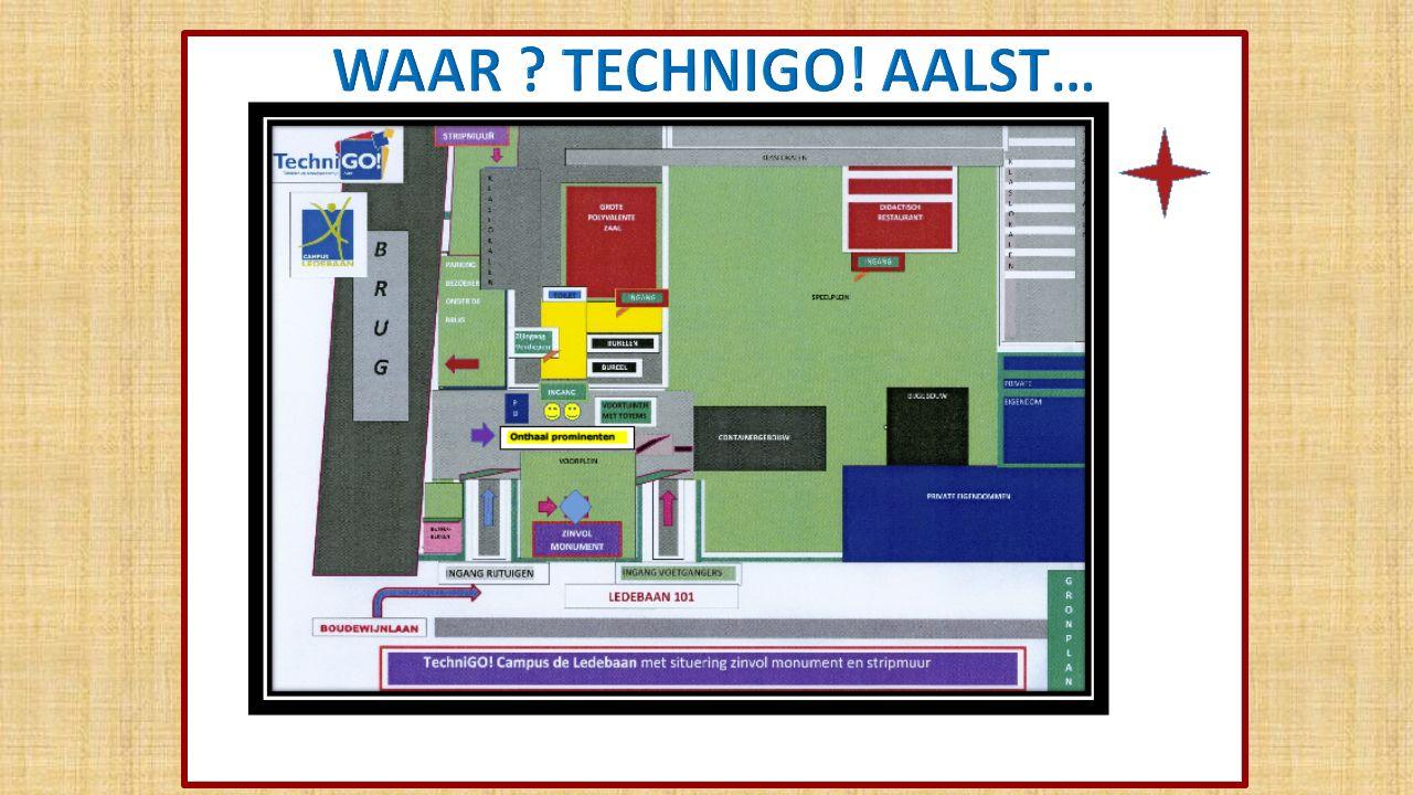 HET TEAM OP DE WERF Van links naar rechts: directie TechniGO!: D.