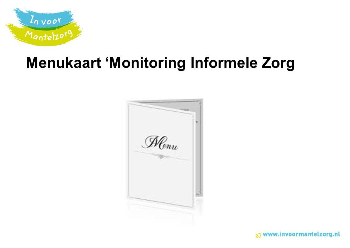 Menukaart 'Monitoring Informele Zorg
