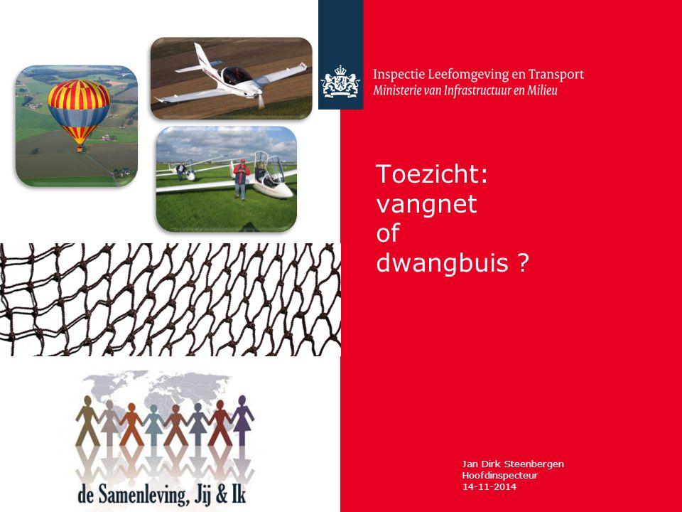 Inspectie Leefomgeving en Transport dd 14-11-2014 Vangnet & ILT regelgeving = vangnet ILT handelt op basis van Regelgeving