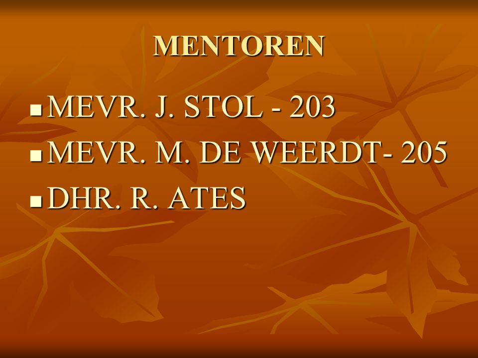 MENTOREN MEVR. J. STOL - 203 MEVR. J. STOL - 203 MEVR.