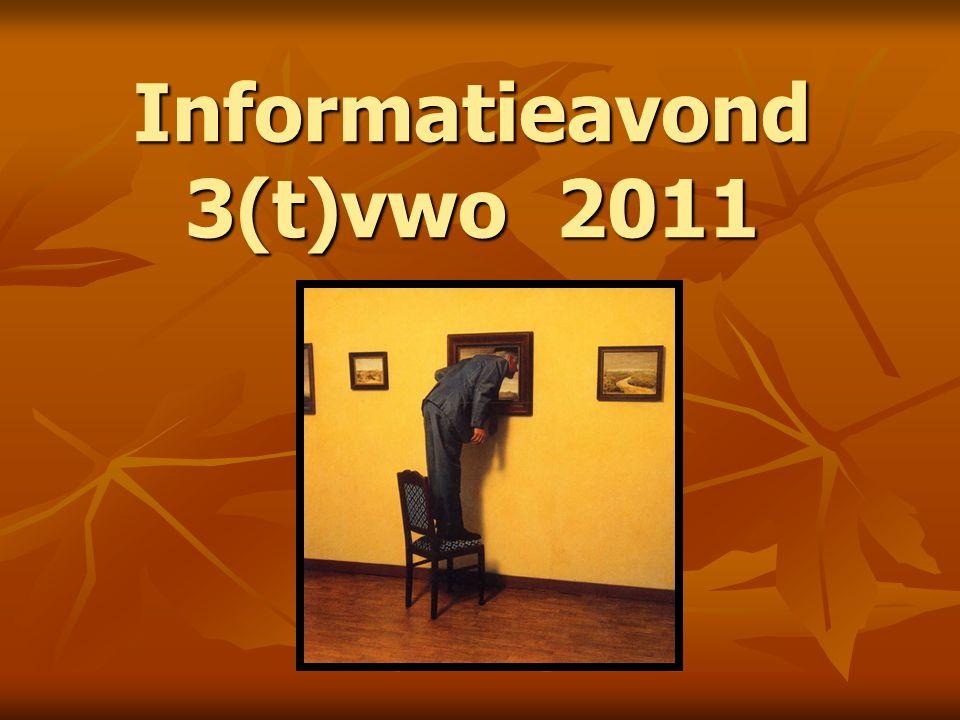 Informatieavond 3(t)vwo 2011