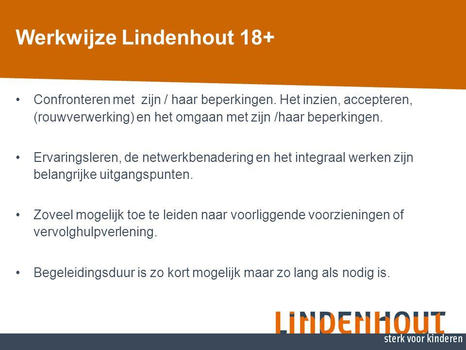 Werkwijze Lindenhout 18+ Confronteren met zijn / haar beperkingen.