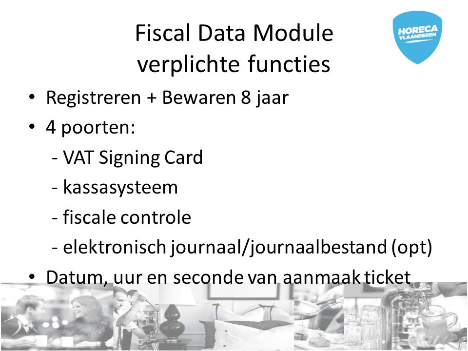 Ticket 3 soorten events : NORMAL TRAINING PRO FORMA 2 soorten transacties: SALES REFUND 2 PLU's: ARBEID IN en ARBEID UIT
