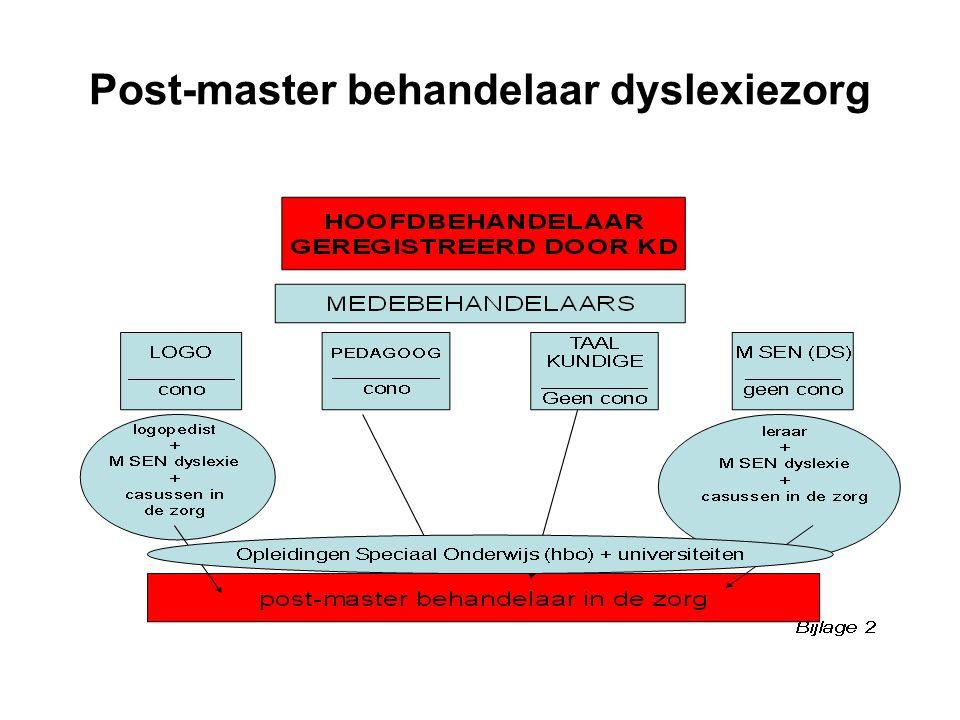 Post-master behandelaar dyslexiezorg
