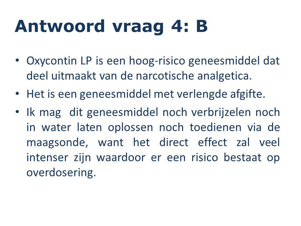 Oxycontin LP is een hoog-risico geneesmiddel dat deel uitmaakt van de narcotische analgetica. Het is een geneesmiddel met verlengde afgifte. Ik mag di