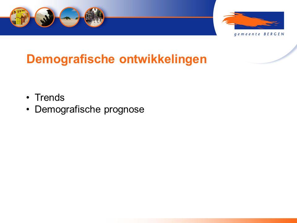 Demografische ontwikkelingen Trends Demografische prognose