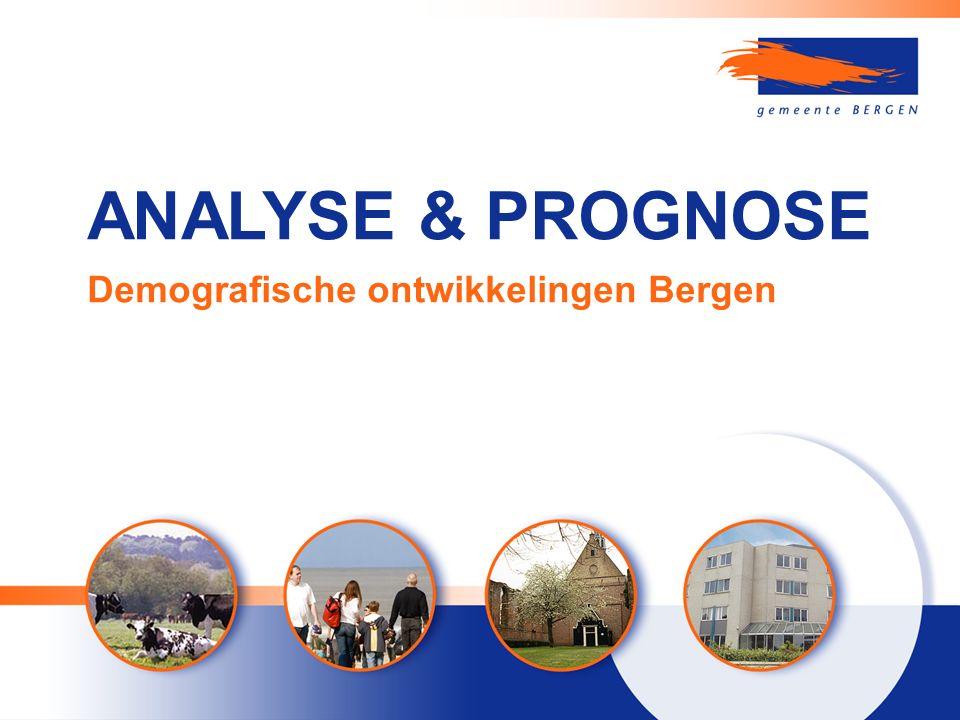 ANALYSE & PROGNOSE Demografische ontwikkelingen Bergen