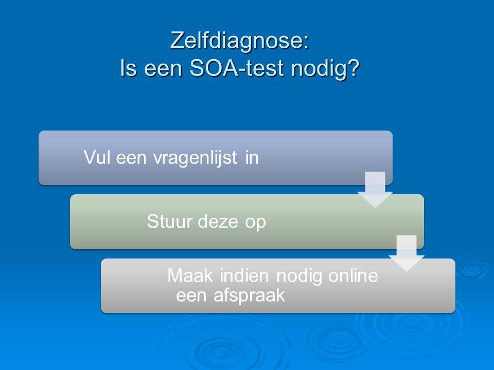 Zelfdiagnose: Is een SOA-test nodig.