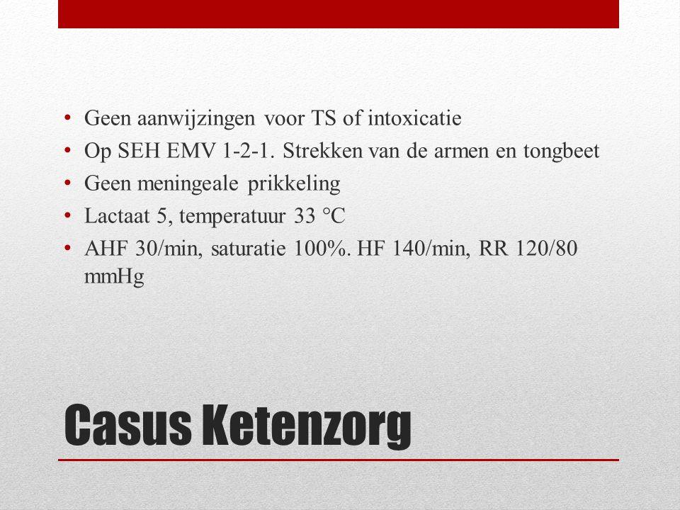 Casus Ketenzorg Geen aanwijzingen voor TS of intoxicatie Op SEH EMV 1-2-1.