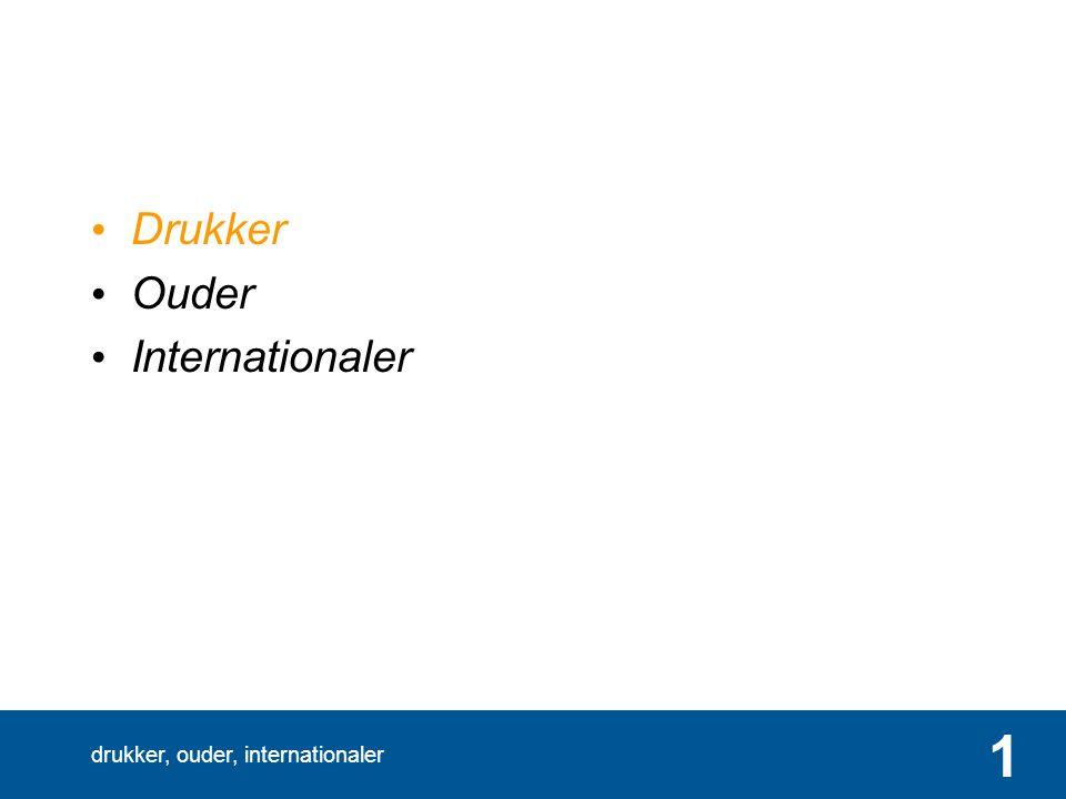 drukker, ouder, internationaler 2 in 2040 1,2 miljoen extra inwoners Van 16,65 naar 17,84