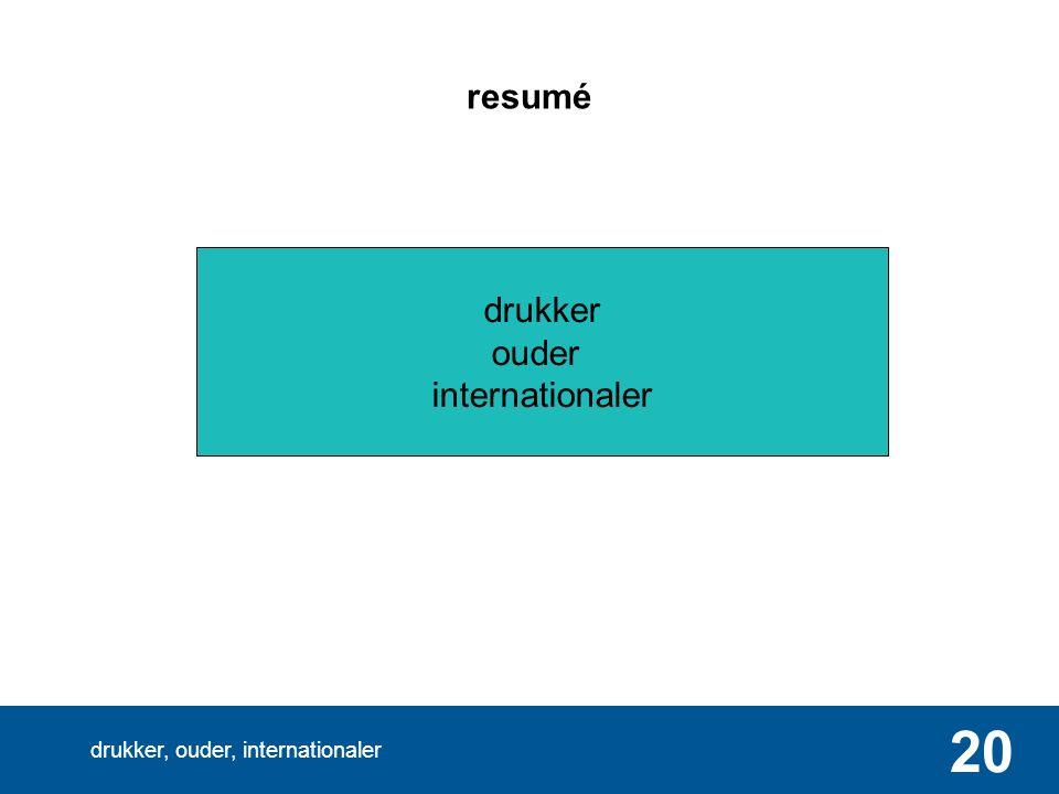 drukker, ouder, internationaler 20 resumé drukker ouder internationaler