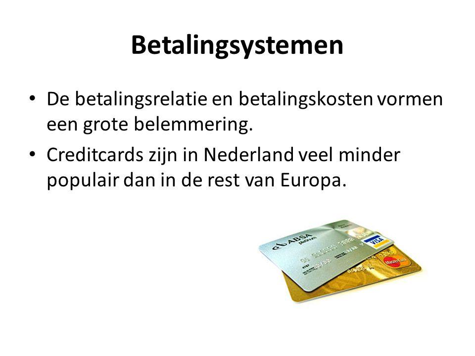 Betalingsystemen De betalingsrelatie en betalingskosten vormen een grote belemmering.