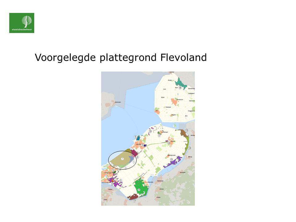 Voorgelegde plattegrond Flevoland