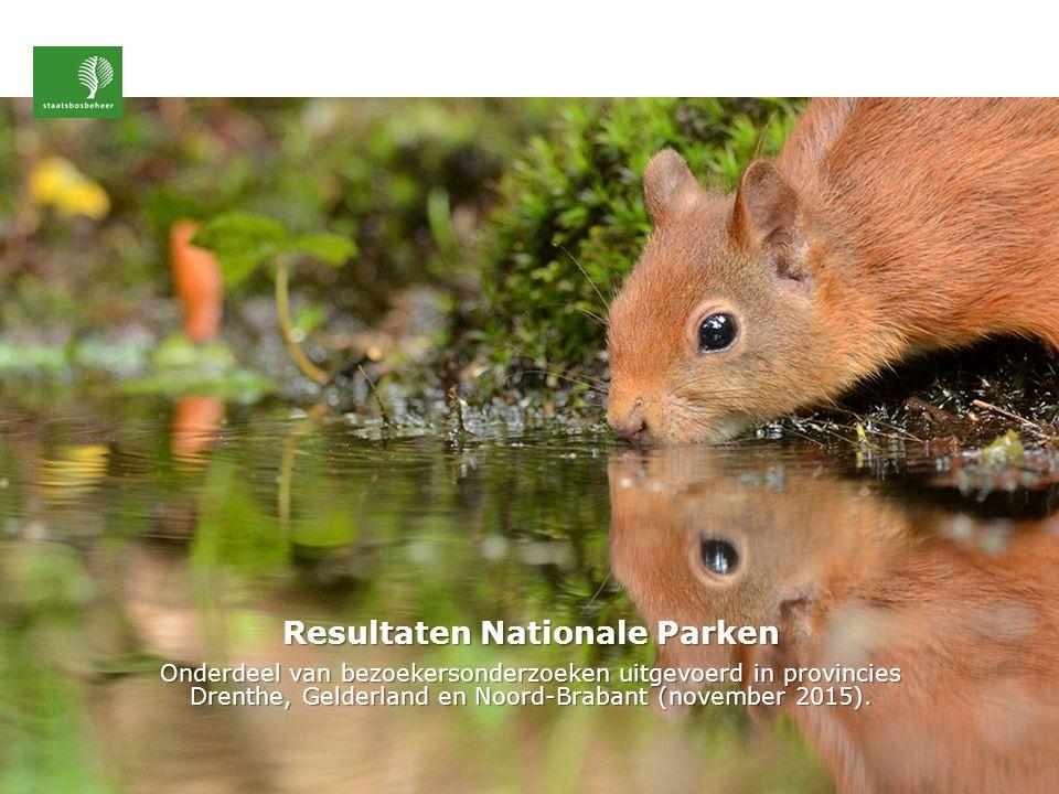 Onderzochte Nationale Parken Nationaal ParkAantal unieke bezoekers Veluwezoom1.459.000 Loonse en Drunense duinen1.209.000 Biesbosch1.141.000 Oostvaardersplassen (in oprichting) 905.000 Dwingelderveld 609.000 Drentse Aa 497.000* Drents Friese wold 469.000 Utrechtse heuvelrug 336.000** Groote Peel 270.000 * deelgebied Balloërveld & Drentse Aa SBB ** deelgebied Leersumse veld