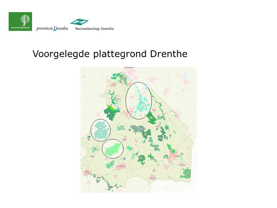 Voorgelegde plattegrond Drenthe
