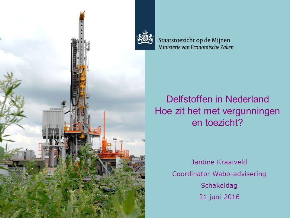 Delfstoffen in Nederland Hoe zit het met vergunningen en toezicht.