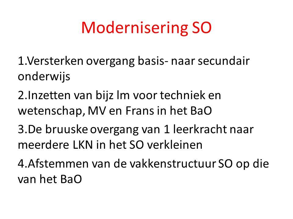 Welke noden zijn er in het BaO om te kunnen voldoen aan het M-decreet en de modernisering van het SO.