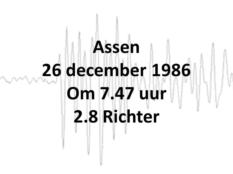 Assen 26 december 1986 Om 7.47 uur 2.8 Richter