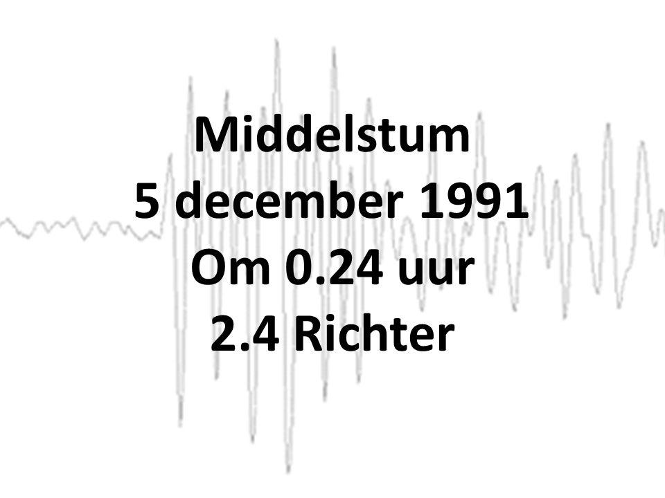 Middelstum 5 december 1991 Om 0.24 uur 2.4 Richter