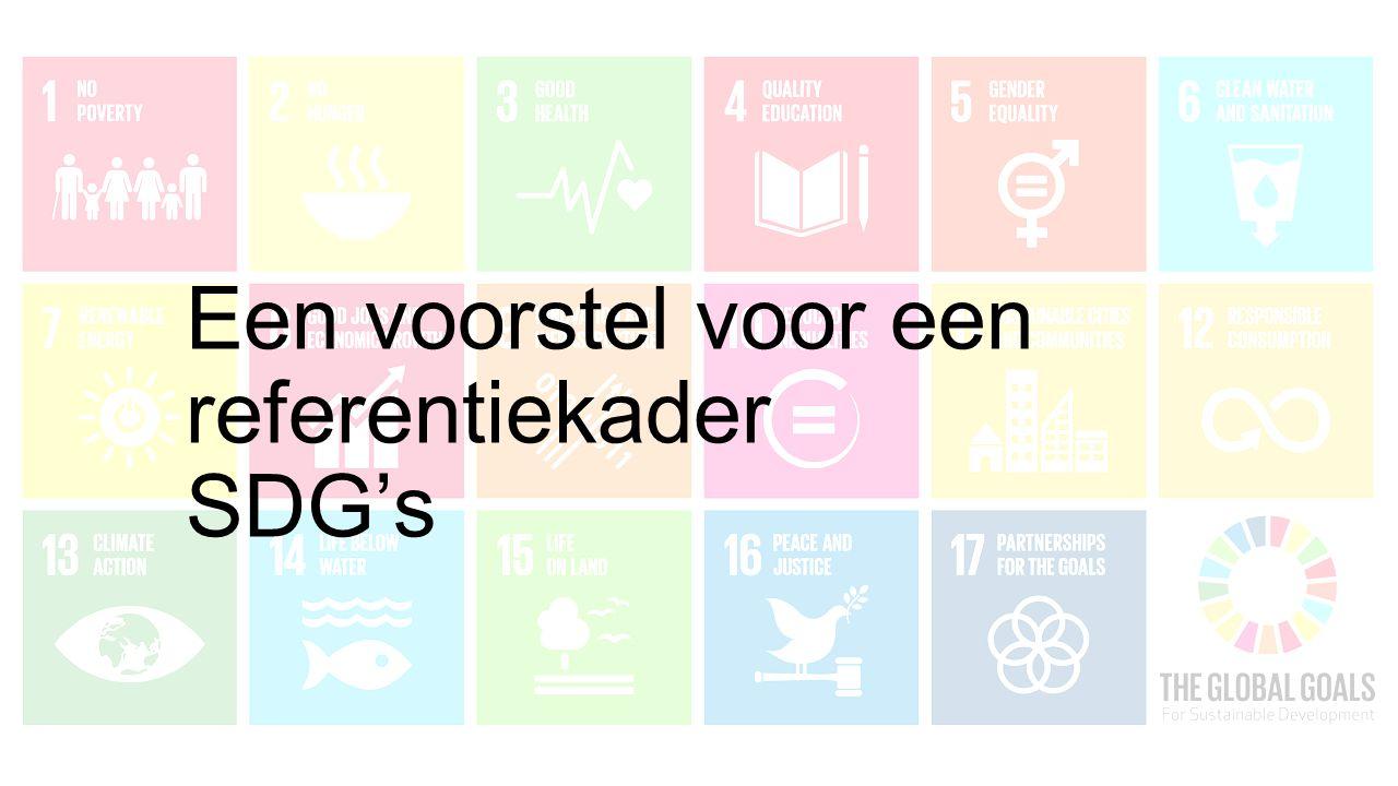Een voorstel voor een referentiekader SDG's