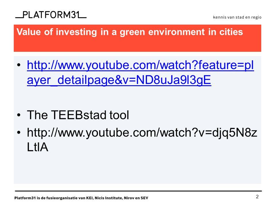 3 What is TEEB-Stad (TEEB-cities).