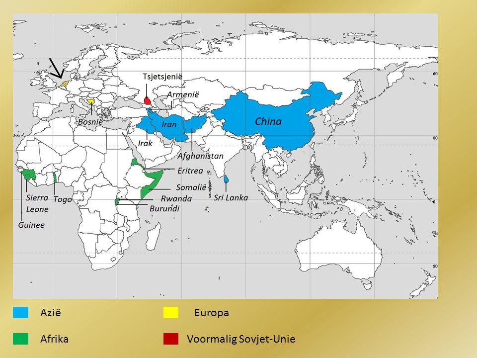 Azië Afrika Europa Voormalig Sovjet-Unie