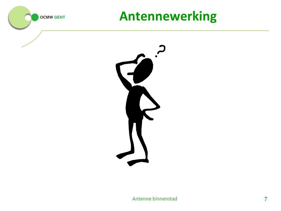 Samenwerking via doorverwijzingen Antenne binnenstad18 Cliënten waarbij je: o signalen van vereenzaming herkent.