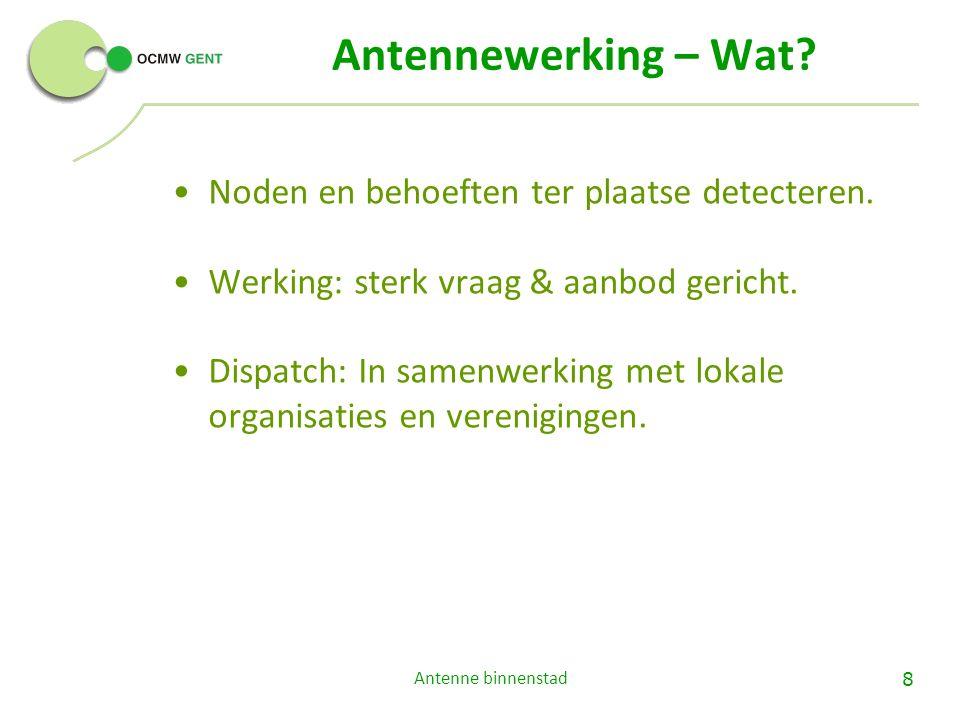 Antennewerking – Wat. Noden en behoeften ter plaatse detecteren.