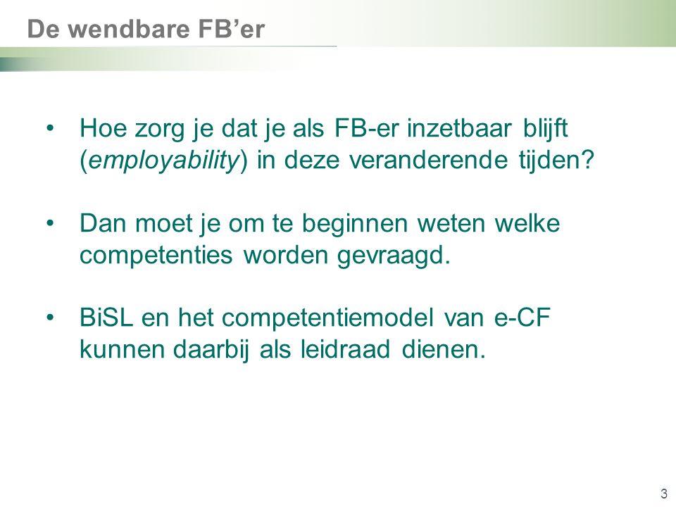 De wendbare FB'er 3 Hoe zorg je dat je als FB-er inzetbaar blijft (employability) in deze veranderende tijden.