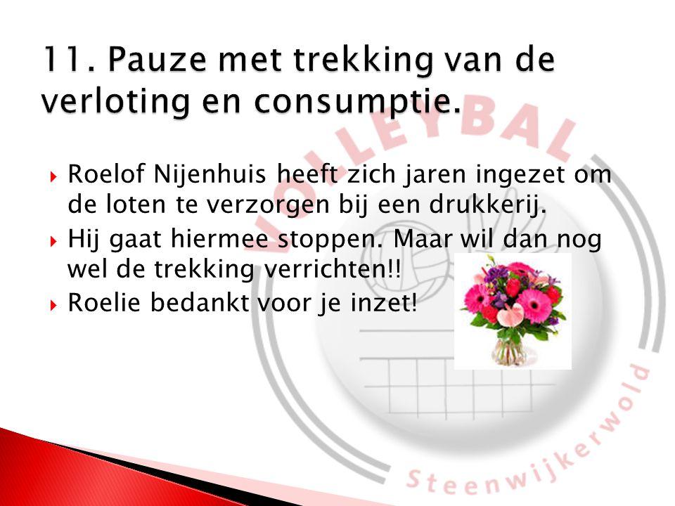  Roelof Nijenhuis heeft zich jaren ingezet om de loten te verzorgen bij een drukkerij.