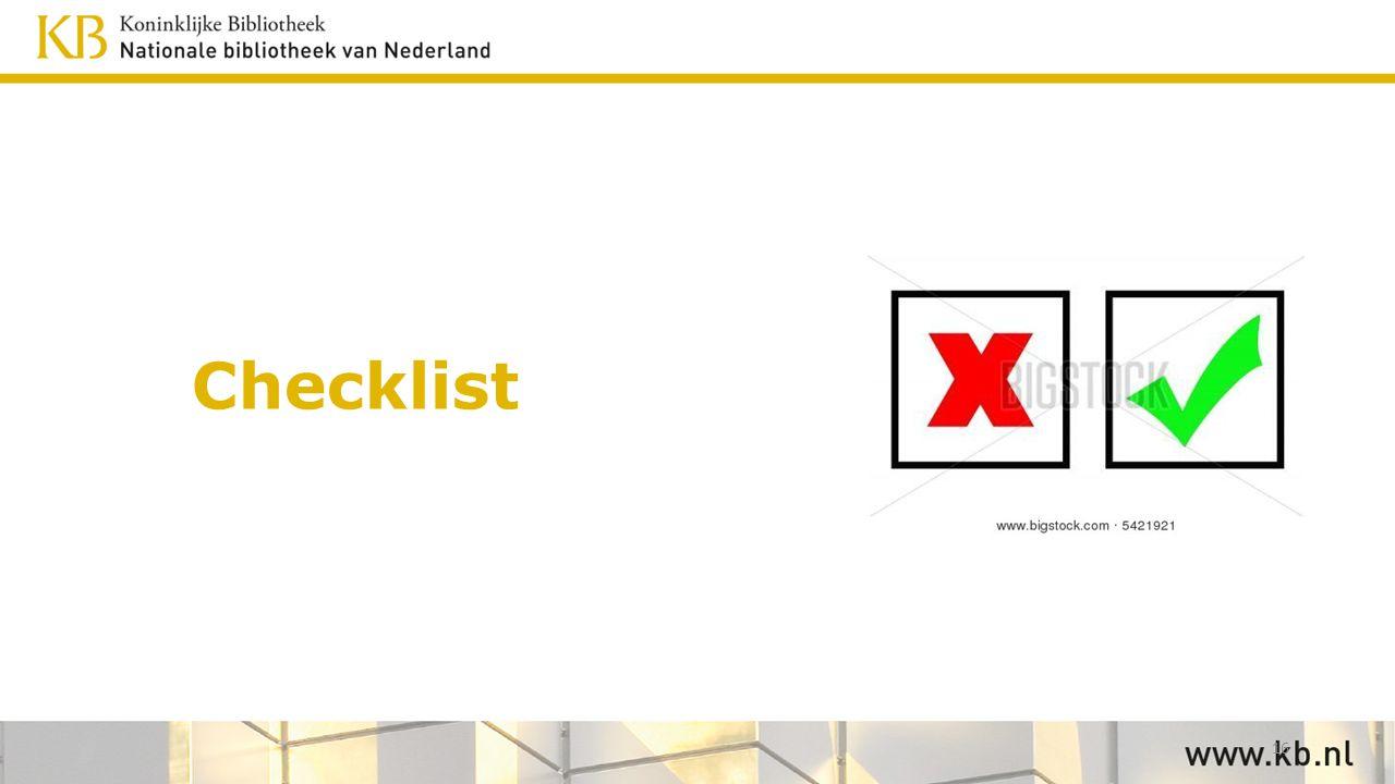 Checklist 16