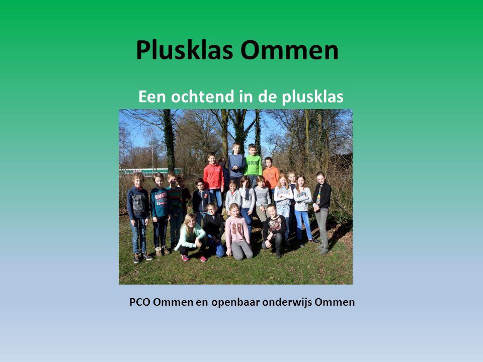 Plusklas Ommen PCO Ommen en openbaar onderwijs Ommen Een ochtend in de plusklas
