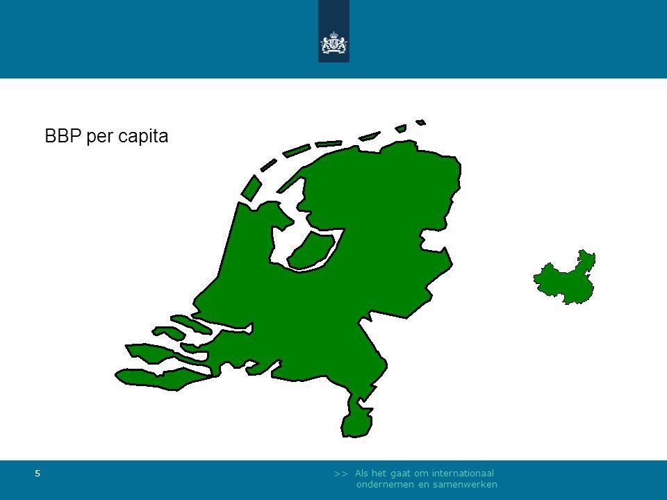 >> Als het gaat om internationaal ondernemen en samenwerken 5 BBP per capita