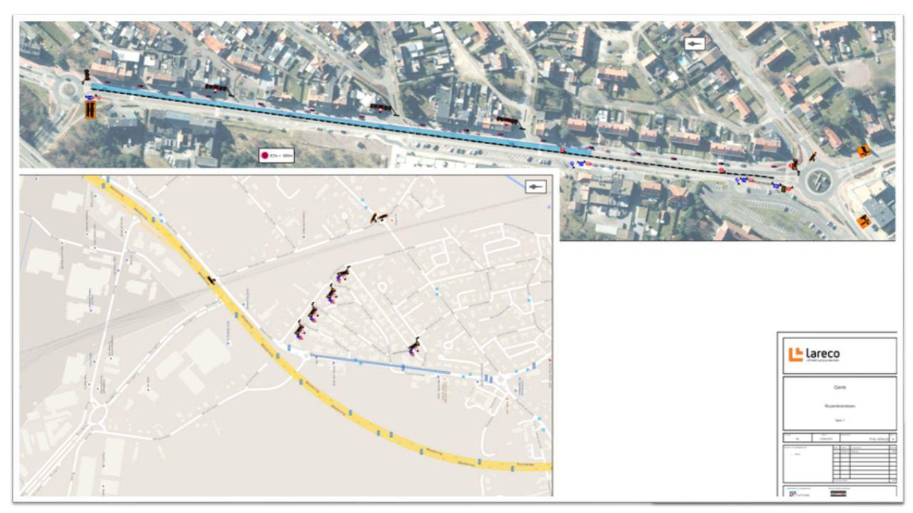 SIGNALISATIE  Omleiding voor het verkeer voorzien  1 rijstrook beschikbaar voor noodgevallen  parkeerverbod  Signalisatieplan