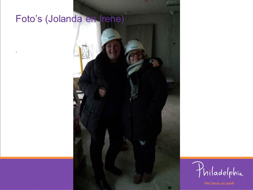Foto's (Jolanda en Irene).