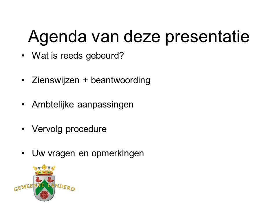 Agenda van deze presentatie Wat is reeds gebeurd.